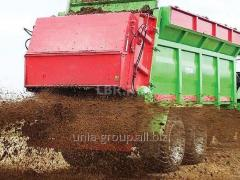 Máquinas de diseminar abonos orgánicos