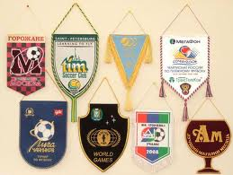 Prize pennant. Tapes are sports and prize