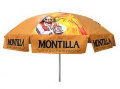Company street umbrellas. Promo-zonty