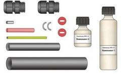 Repair kit for sections from an armor cable (nagr.