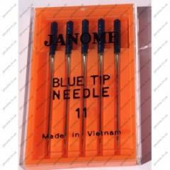 Needles of JANOME Blue Tip superstreych - knitted