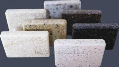 Materials for decoration made of artificial stone