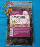 Замороженный корм Мотыль Россия пластинка, 100 г