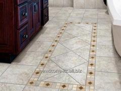Facing tiles for floor