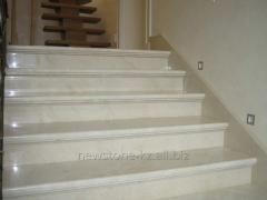 Tile for step flooring