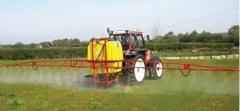 Sprayer for introduction of pesticides