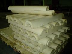 Production of shells from polyurethane foam for