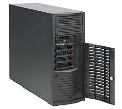 Сервер Supermicro MB X9SCL+-F/CSE 733T-500 Black,