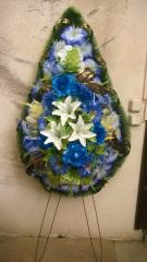 Funeral wreath of artificial flowers model 1