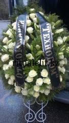 Funeral wreath of flowers model 6