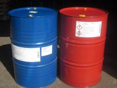 Two-component glue for production of