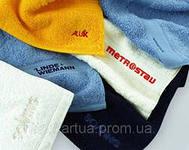 Компьютерная вышивка лого на полотенцах