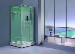 cabine della doccia e vapore
