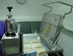 Equipment for restoration of books,