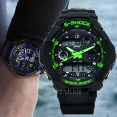 Спортивные водонепроницаемые часы S-SHOCK