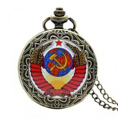 Pocket watch with symbolics of the USSR