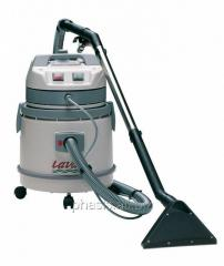The washing vacuum cleaner for dry and damp