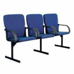 Кресло для актового зала трехместное