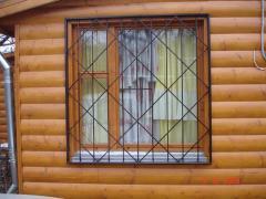 Beautiful lattices on windows from shod metal
