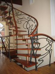 Spiral staircase from metal
