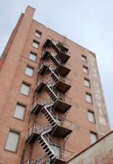 Fire-escapes are external