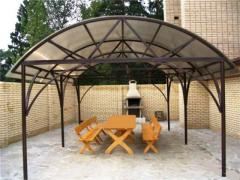 Canopy from metal