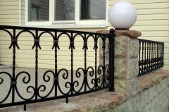 Ограждение (забор) из кованого металла