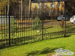 Fence and gate from metal