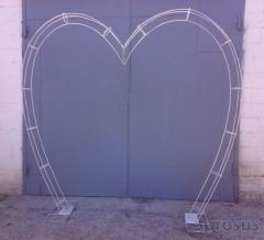 Metal frameworks for wedding arches