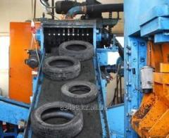 Line of processing of autotires