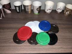 Paper glasses for cold and hot drinks.