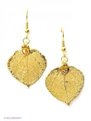 Earrings leaf of an aspen Ester Bijoux gold
