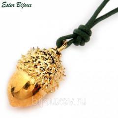 Подвеска Желудь Ester Bijoux золото