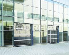 Панорамные секционные ворота DoorHan серии ISD02