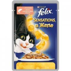 Felix влажный корм для кошек кусочки в желе с