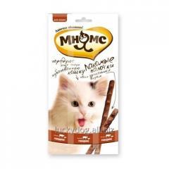 Мнямс колбаски для кошек с говядиной и печенью 3