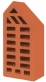 Brick ceramic figured FL-2/1NF