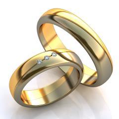 Обручальное кольцо RNG010059 Са?ина (Алтын 585) Фианит