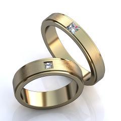 Обручальное кольцо 09ж Неке са?инасы (Алтын 585) Фианит