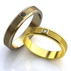Обручальное кольцо RNG010052 Са?ина (Алтын 585) Фианит