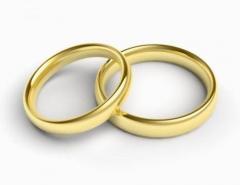 Обручальное кольцо обр.к.4 Неке са?инасы (Алтын 585)