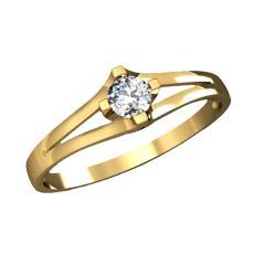Кольцо 769 бр Са?ина (Алтын 585) Бриллиант кр. VVS1 F-G 0,12кт.