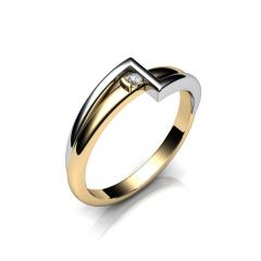 Кольцо АГ 035 (1) бр Са?ина (Алтын 585) Бриллиант кр. VVS1 F-G 0,04 кт