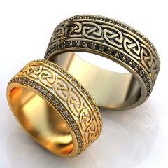Обручальное кольцо RNG010077 Са?ина (Алтын 585) Агат