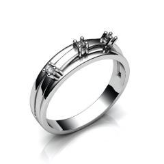Кольцо АГ 017 (1) бр Са?ина (Алтын 585) Бриллиант VVS1 F-G 0,07 кт