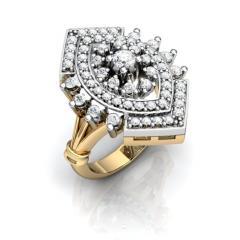 Кольцо АГ 079 (1) Са?ина (Алтын 585) Фианит