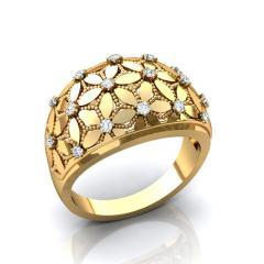 Кольцо RNG020141 Са?ина (Алтын 585) Фианит
