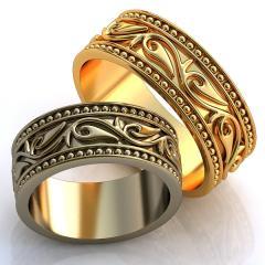 Обручальное кольцо RNG010065 Са?ина (Алтын 585) Эмаль
