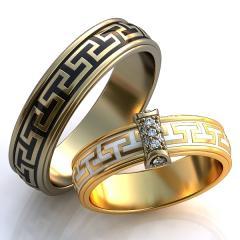 Обручальное кольцо RNG010107 Са?ина (Алтын 585)