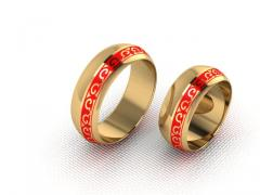 Обручальное кольцо RNG010100 Са?ина (Алтын 585) Эмаль